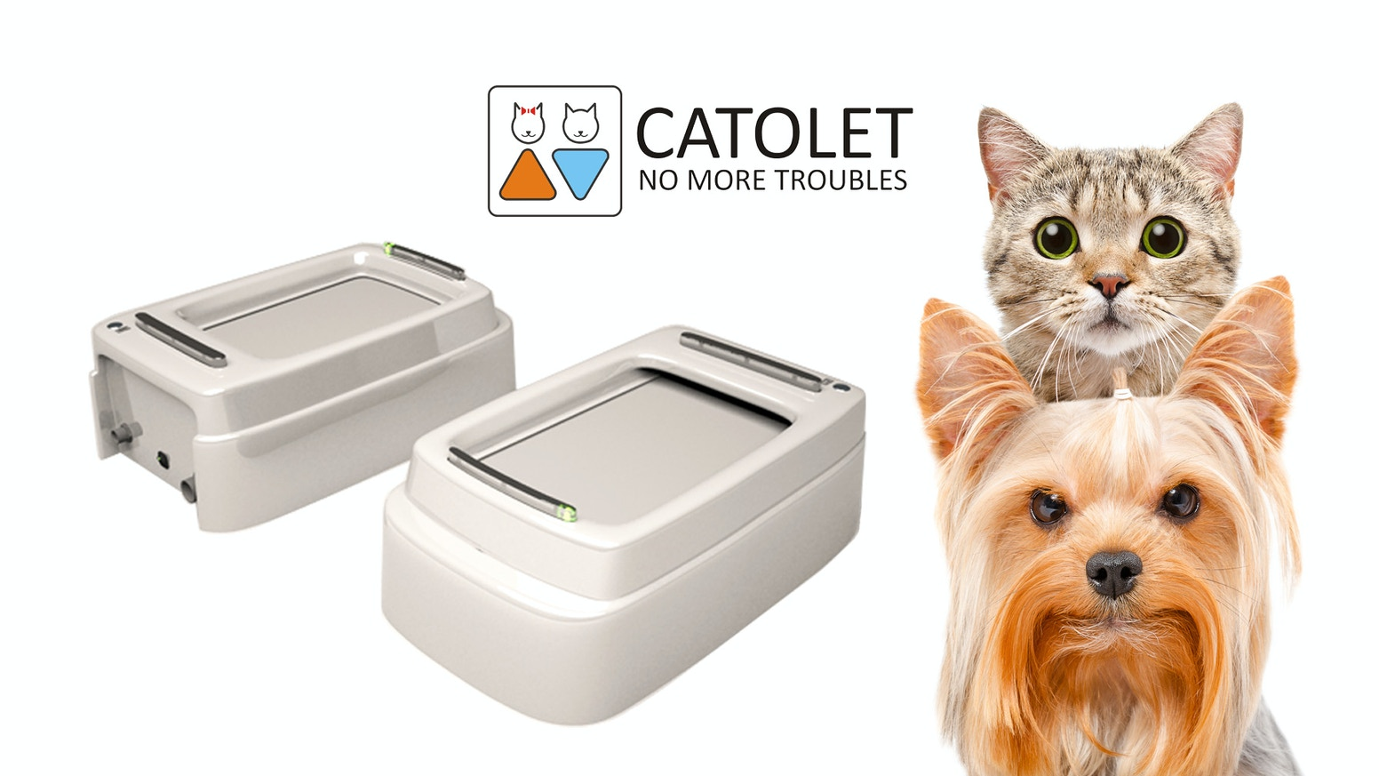 Catolet - is a unique automatic litter box for cats and small dogs.