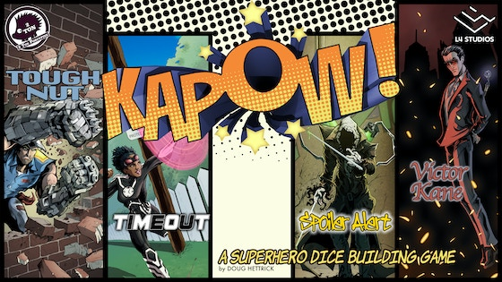 KAPOW! - A fast and furious Superhero dice building game