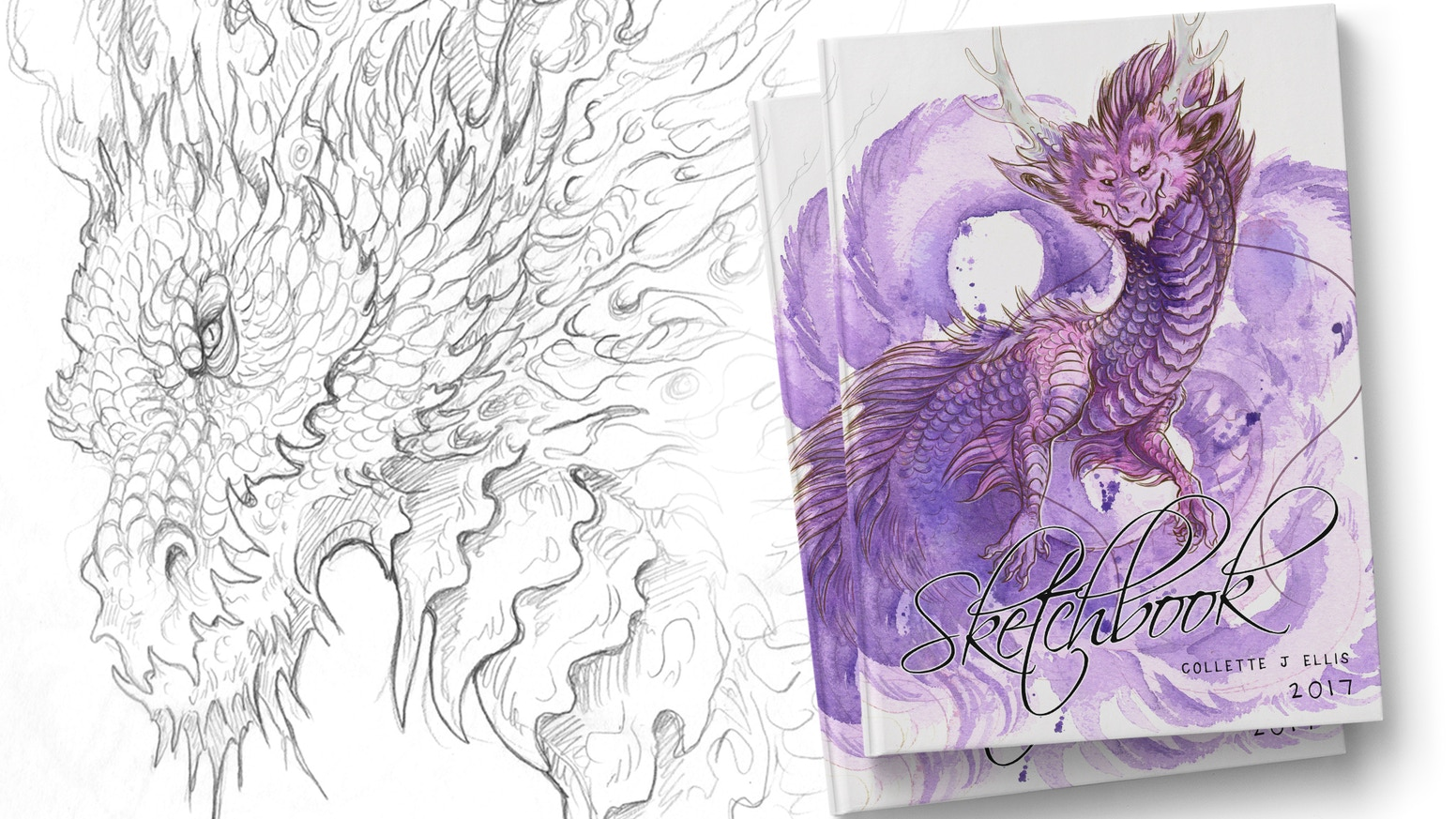 Dragons & Fantasy Art Sketchbook 2017 by Collette June Ellis ...