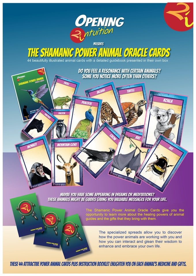 Shamanic Power Animal Oracle Cards by Opening2Intuition