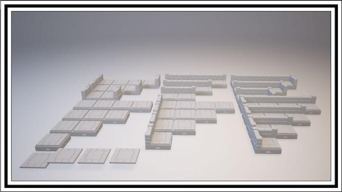 UNLOCKED - Pyramid 1 Square Tile Set