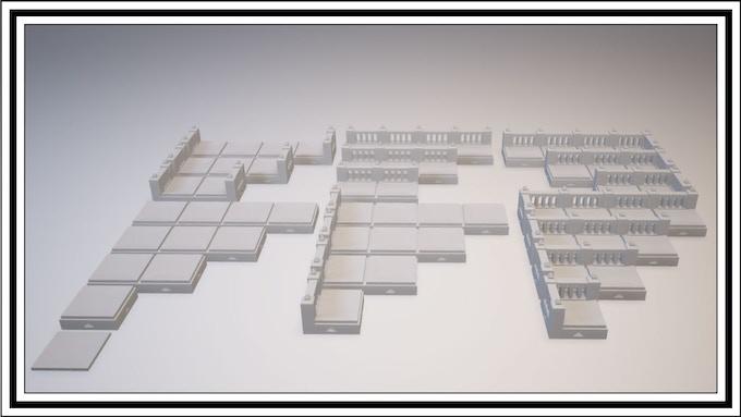 UNLOCKED - Dwarven 1 Square Tile Set