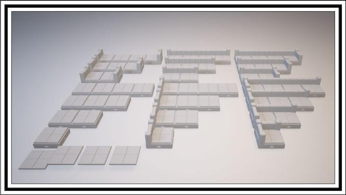 UNLOCKED - 4 Square 1 Square Tile Set
