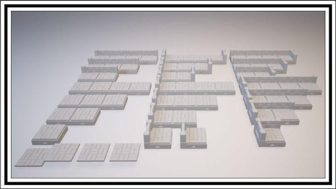 UNLOCKED - Basketweave 1 Square Tile Set