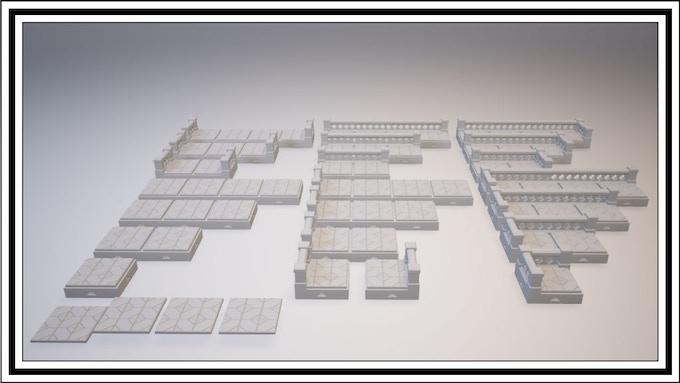 UNLOCKED - Cross Lattice 1 Square Tile Set