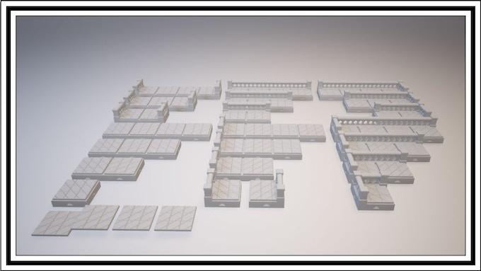 UNLOCKED - Diamond Lattice 1 Square Tile Set