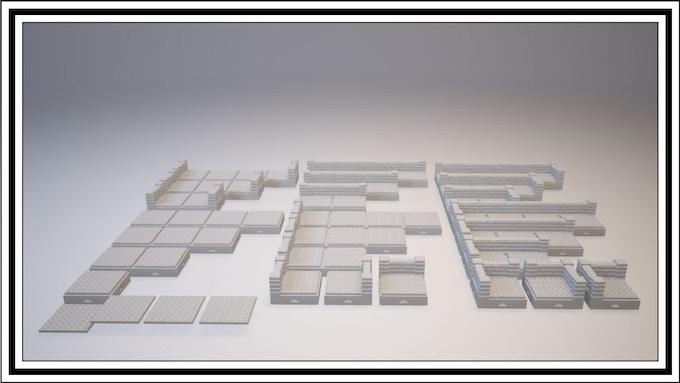 UNLOCKED - Herringbone 1 Square Tile Set