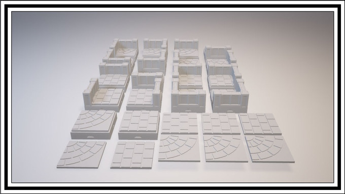 UNLOCKED - Radial 1 Square Tile Set