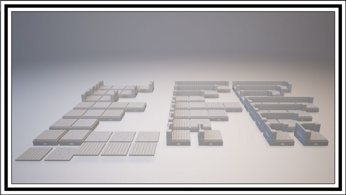 UNLOCKED - Wooden 1 Square Tile Set
