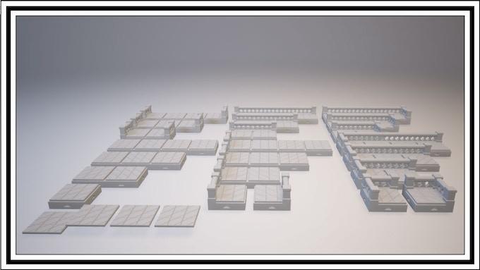 $1700 - X Lattice 1 Square Tile Set