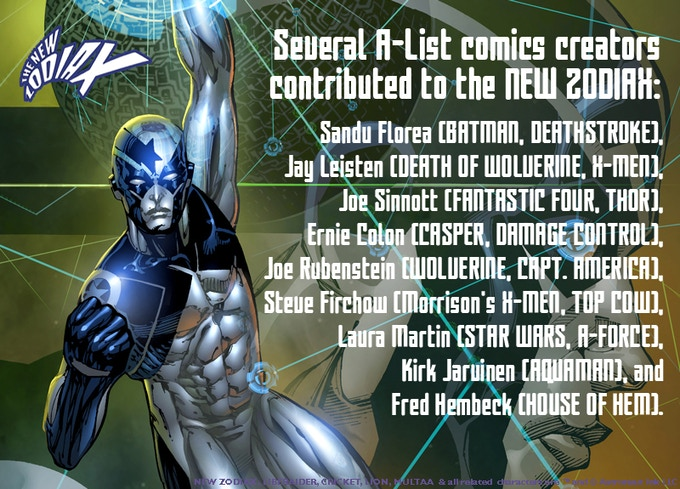 Several A-list comics creators helped the NEW ZODIAX GN sell out!