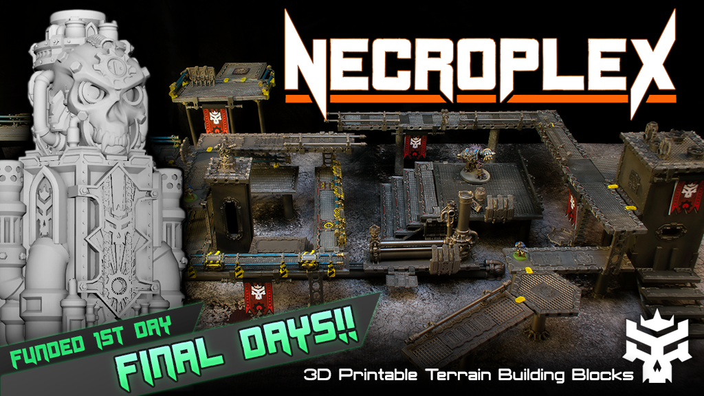 Necroplex: 3D Printable Sci-Fi Terrain Building Blocks project video thumbnail