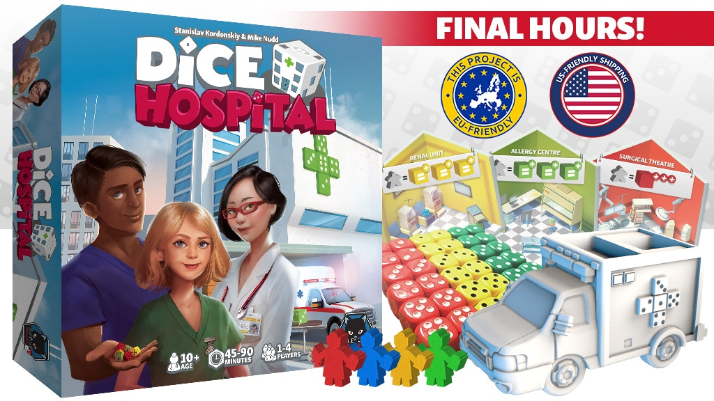 Dice Hospital - a 1-4 player game. Roll, Treat, Discharge! project video thumbnail