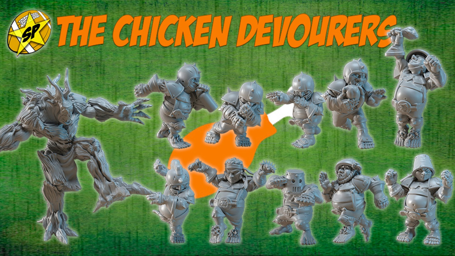 The Chicken Devourers! Halfling team for Fantasy Football by SP Miniatures. To eat or to block... That is the question!