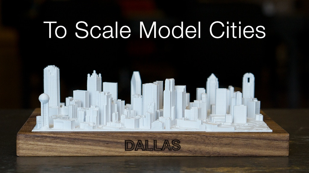3D Printed Skylines | To Scale Model Cities project video thumbnail