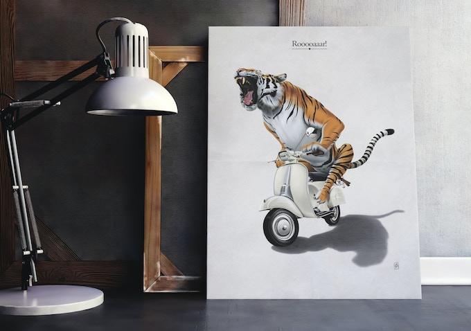 One of Rob Snow's 'Animal Behavior' Illustrations