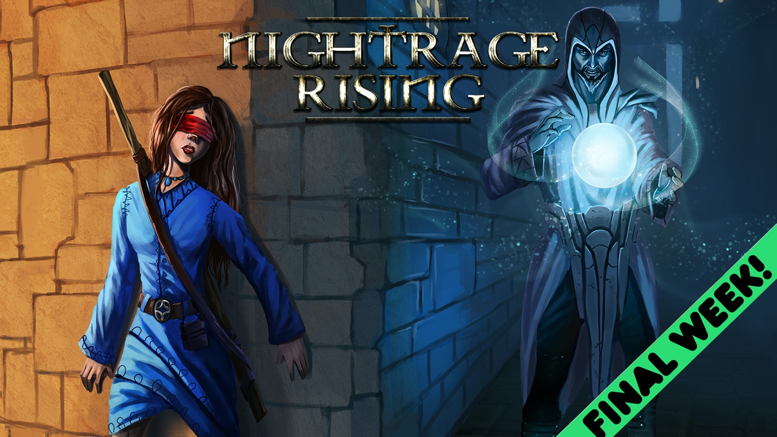 Nightrage Rising is the fantastical mystery-adventure of a young blind girl's struggle to escape a deadly anarchist cult