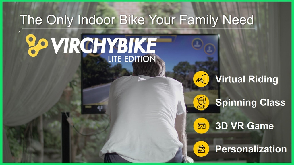 Virchybike LITE : The Only Smart Indoor Bike for Your Family project video thumbnail