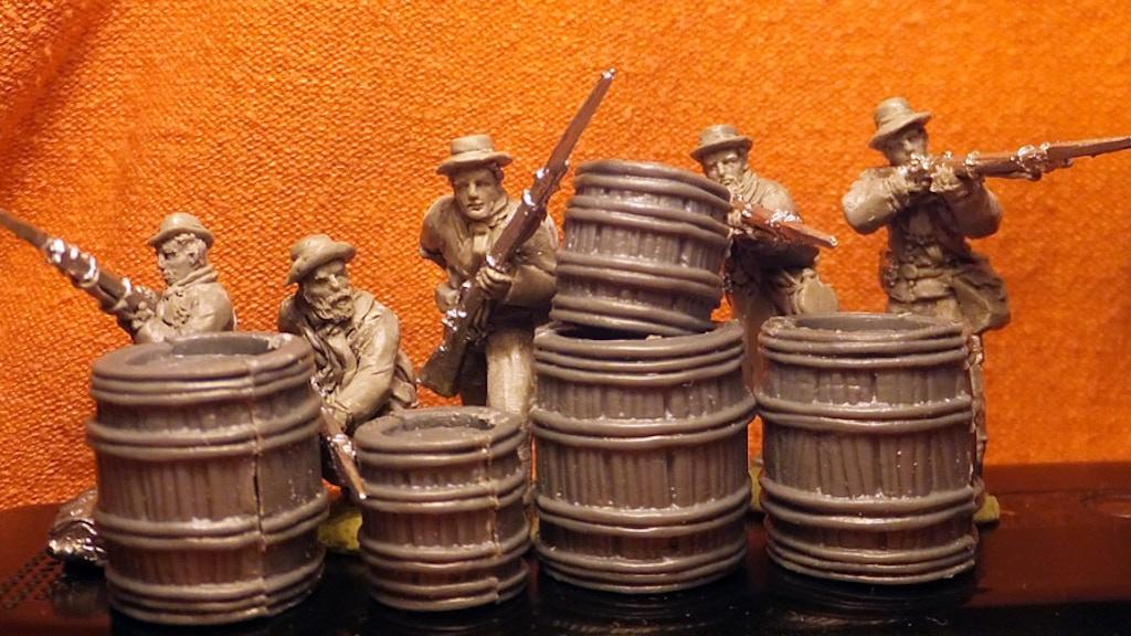 28mm miniature American Civil War soldiers in winter gear project video thumbnail