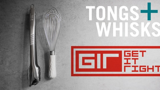 GIR Tongs + Whisks | Squeeze. Lock. Whisk. Repeat.