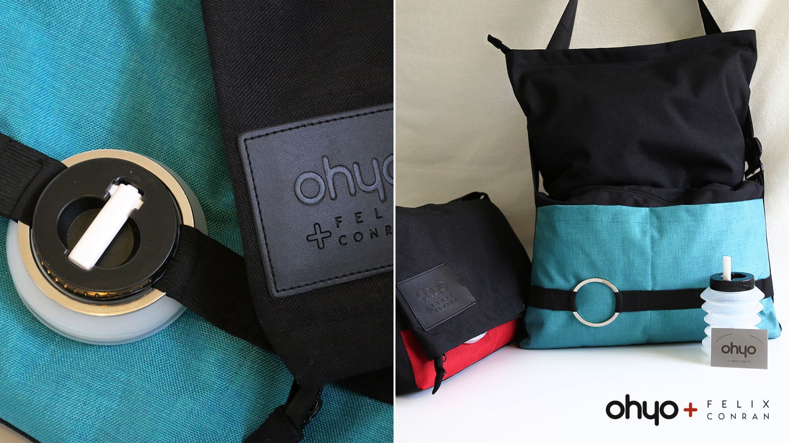 Ohyo 2Bag holds your daily essentials expanding for more. Ohyo Bottle collapses to fit in a bag or pocket making tap water convenient.