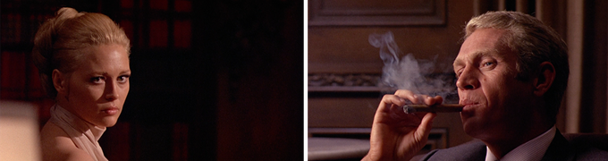 (Faye Dunaway and Steve McQueen in The Thomas Crown Affair, shot by Haskell Wexler)