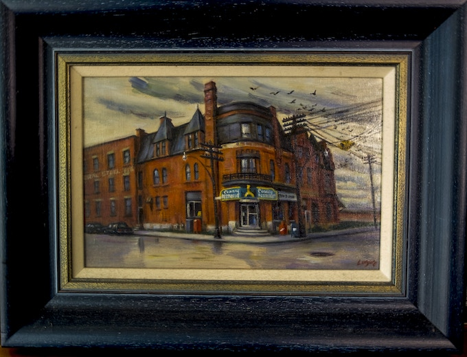 Gerald Lazare Painting of the Canary Restaurant