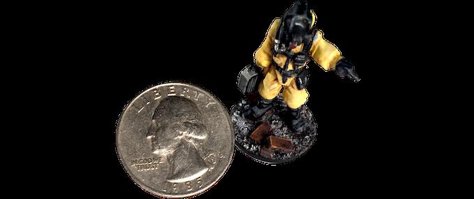 Size comparison to a US Quarter