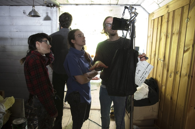Photo of the Filmmakers on Set