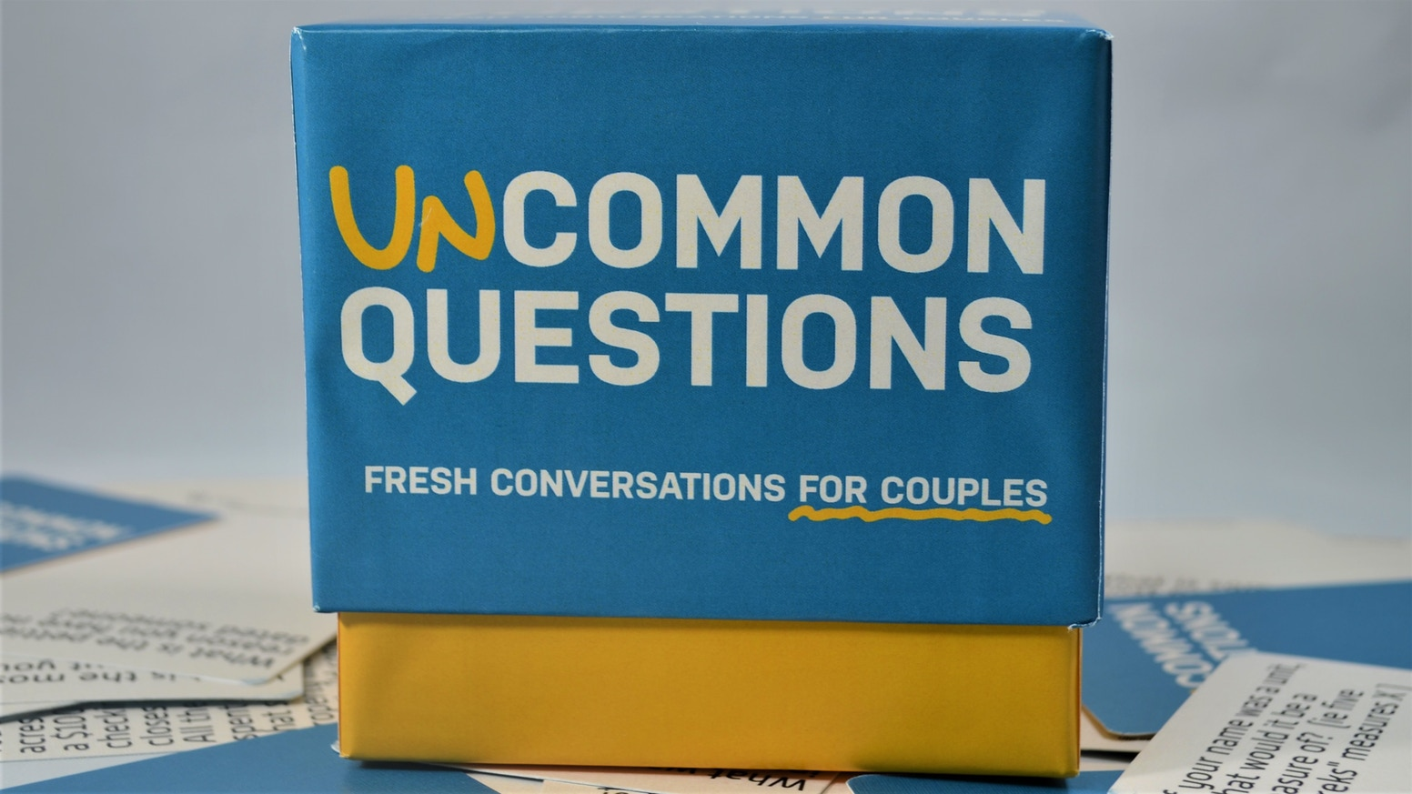 Hundreds of fun and insightful conversations you've never had. A quick way to reconnect and discover something new about your partner!