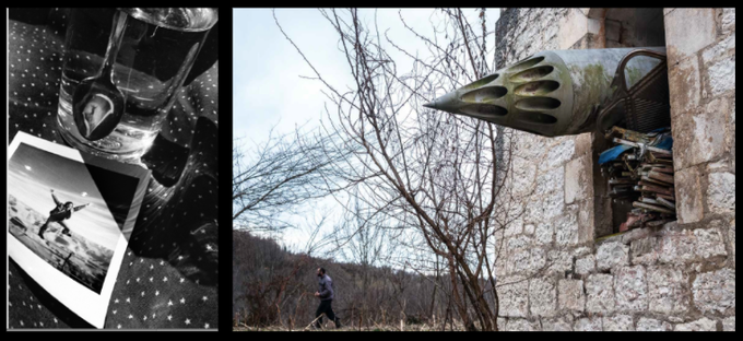 "(L) Jessica Hines, ""My Brother's War"" (R) Olga Ingurazova, ""Scars of Independence"""
