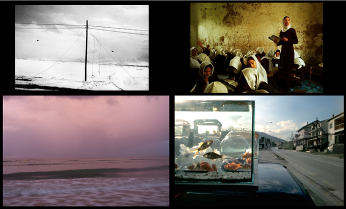"""Top (L), Kathryn Cook, """"Memory Denied: Turkey and the Armenian Genocide,"""" Top (R), Monika Bulaj, """"Afghanistan, Not the War Only,"""" Bottom (L), Donald Weber, """"War Sands,"""" Bottom (R) Sara Terry, """"Aftermath: Bosnia's Long Road to Peace"""""""