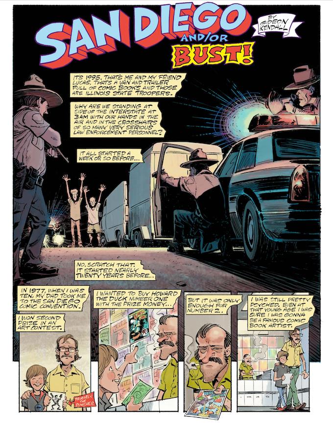 Comic Art by Gideon Kendall