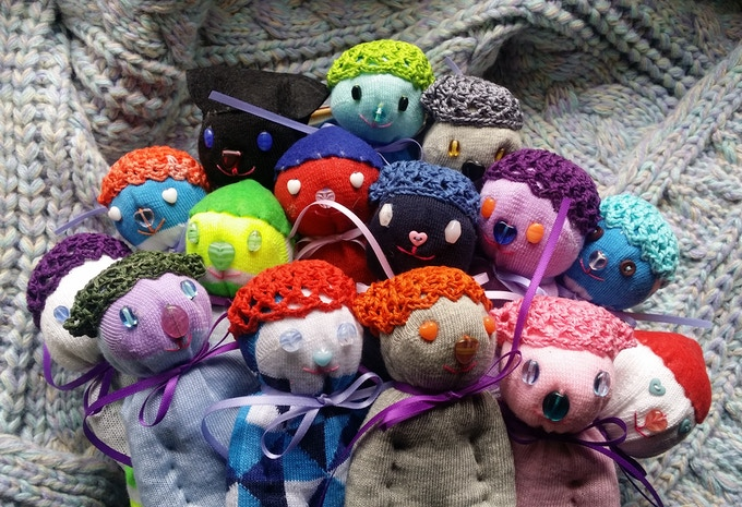 One day I realized I could stuff sock dolls with lavender!