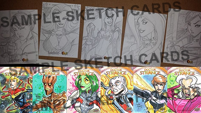 Sample Sketch Cards By Justin Ayers