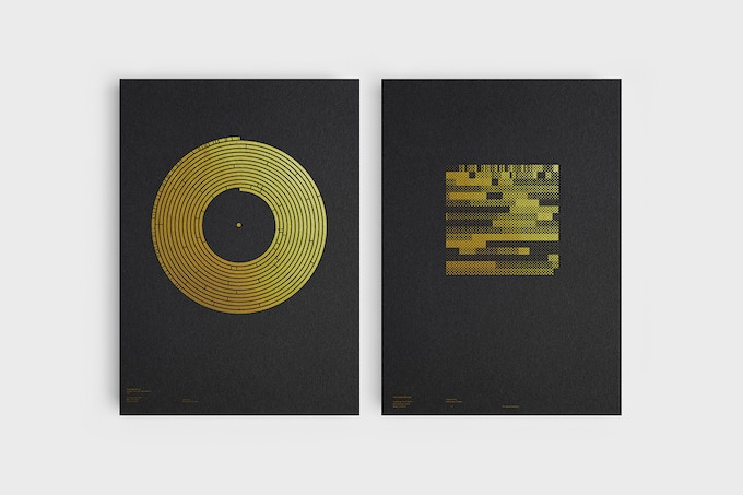 The Golden Record silkscreen prints by James Lowe & Alex Szabo-Haslam