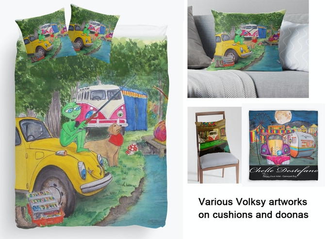 Volksys on doonas and cushions