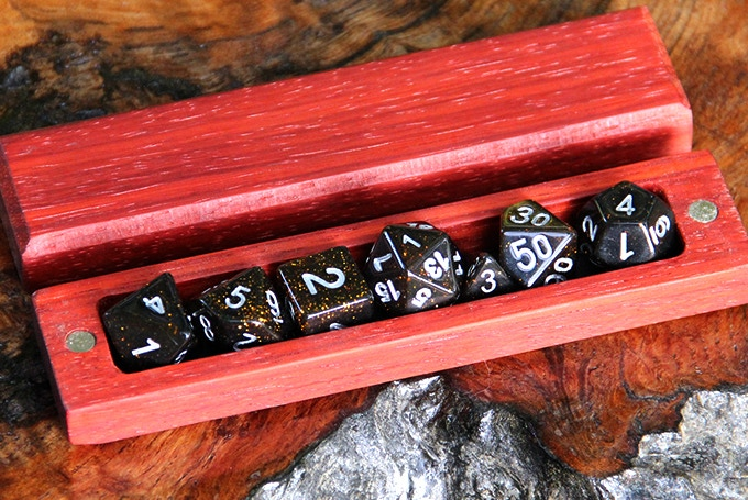 Padauk Hero Sleeve with Galaxy Dice