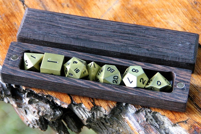 Wenge Hero Sleeve with Burnished Gold Dice