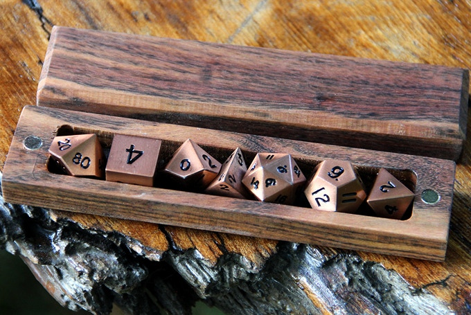 Chechen Hero Sleeve with Burnished Copper Dice
