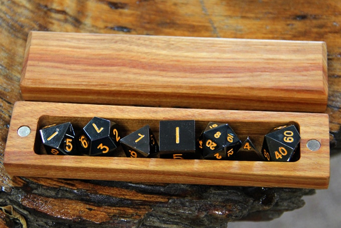 Canarywood Hero Sleeve with Lumberjack Tears Dice