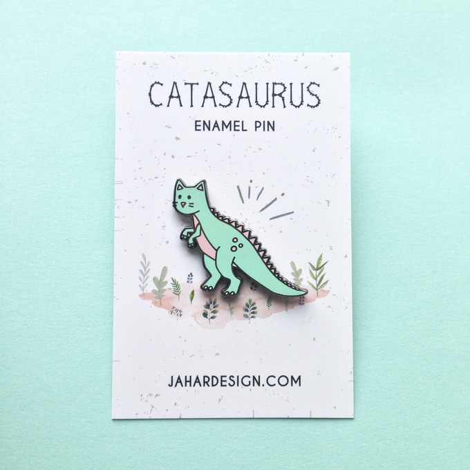 Catasaurus option 1 enamel pin
