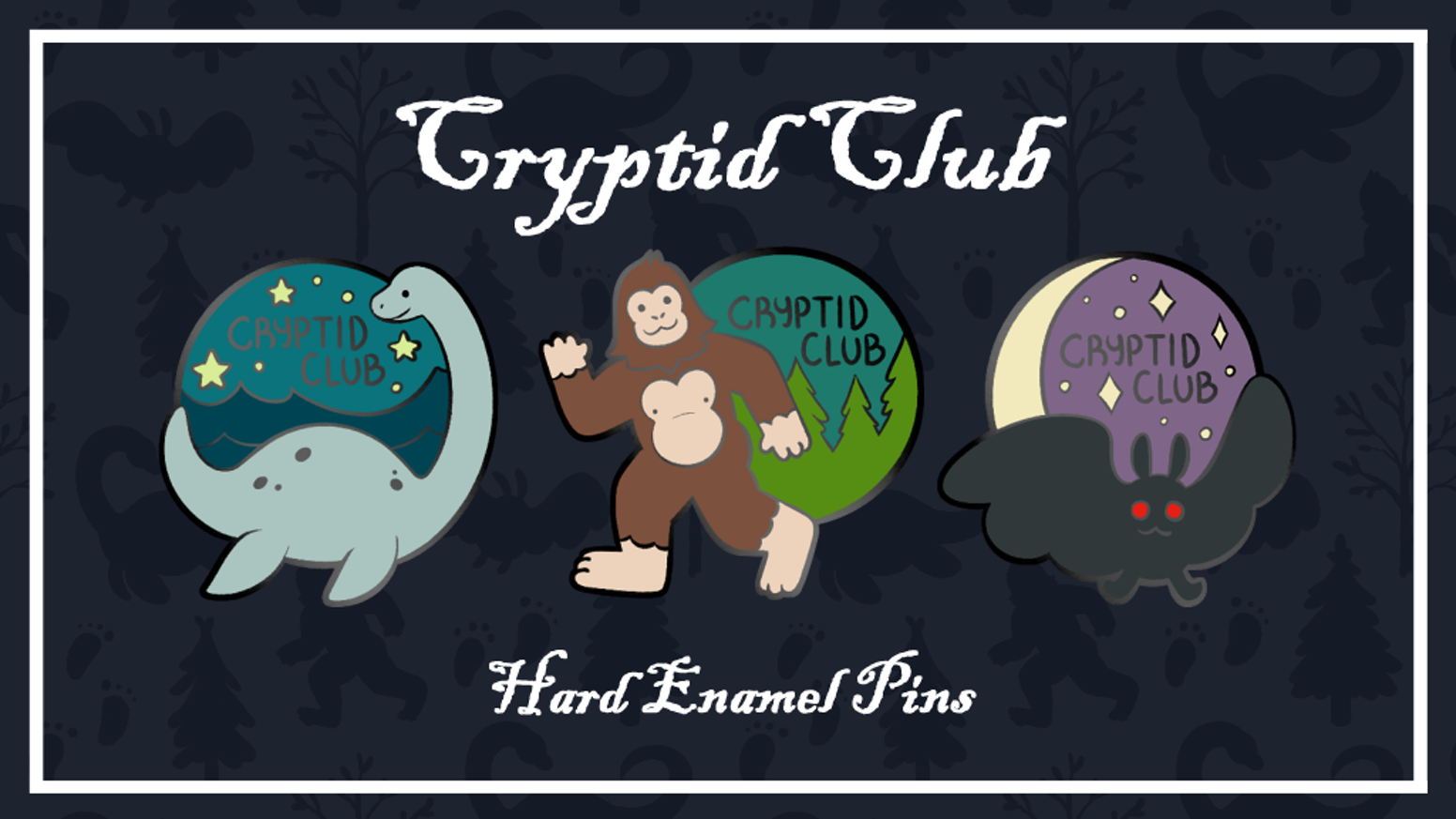Cryptid Club Enamel Pins by Stephne Boutcher — Kickstarter