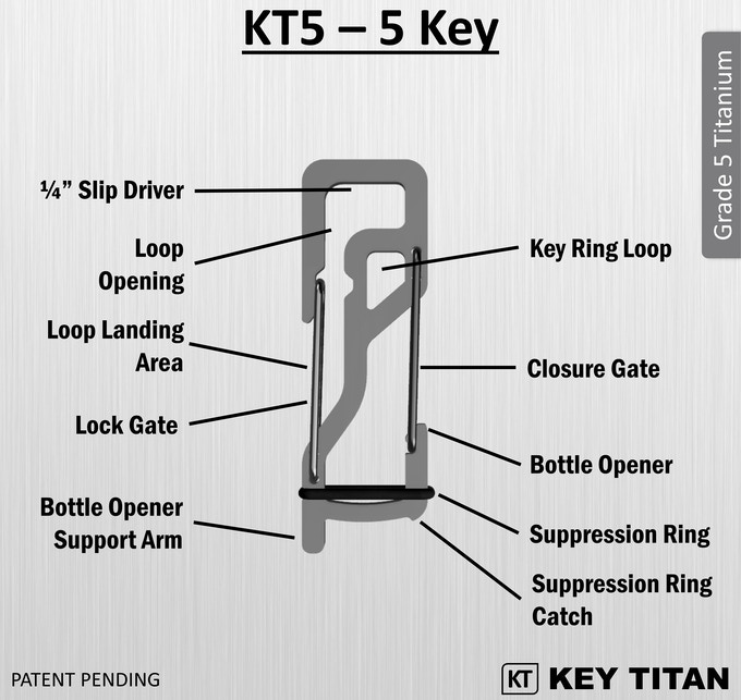 key titan your keys silenced organized and secured by brian kickstarter. Black Bedroom Furniture Sets. Home Design Ideas