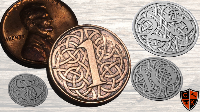 Step up your gaming with our Fantasy Currency that's made from REAL U.S. Coins! A unique twist on the everyday gaming coins.