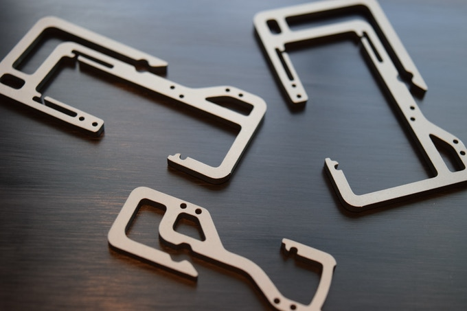 Sandstone Surface Finished Titanium Key Titan Frames