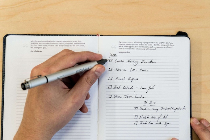 This can be used as your everyday, go-to place to take notes whether it's in the office, school or in your home. The Mindful Notebook