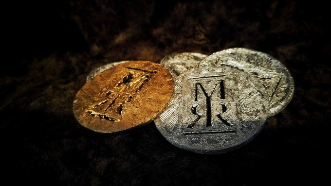 World of Myrr coins by Jeff Porter (3D printed)