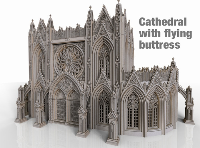 Cathedral shown with flying buttress from the second Cathedral stretch goal