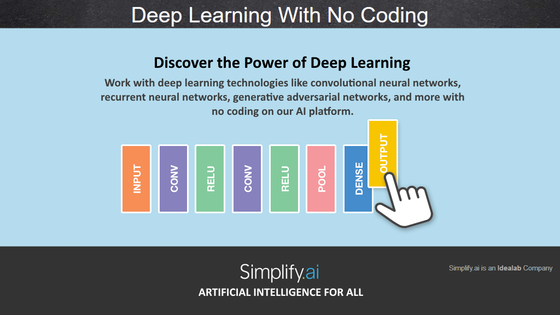 Deep Learning, No Coding